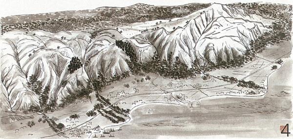 江戸時代の六甲山(平内安彦・画)