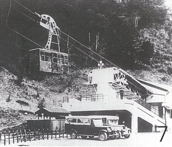 六甲ロープウェイの開通(昭和6年)