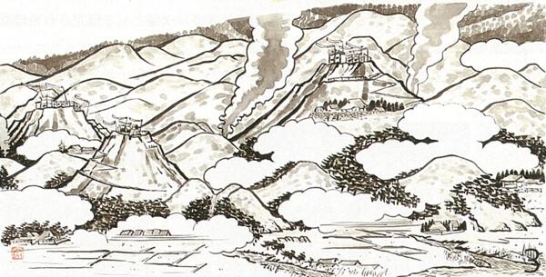 戦国時代(中世)の六甲山(平内安彦・画)