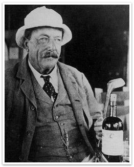 Arthur Hesketh Groom with Golf Club and Bottle
