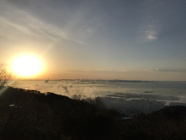 Sunrise on Rokkosan