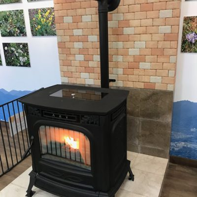 Mt.Rokko Visitor Center pellet stove